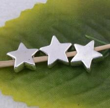 Wholesale 15pcs tibet silver five-pointed star spacer beads charm 10x3mm #A5574