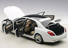 Autoart MERCEDES BENZ MAYBACH S-KLASSE S600 WHITE 1/18 Scale New! In Stock!