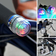 Handle Bar Hand Grips Bar End Marker Plug LED Light Lamps For Bicycle LI