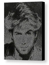 George Michael Wham! Song List Incredible Mosaic Framed Limited Edition w/COA