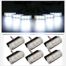 White 18 LED Flash Emergency Strobe Grill Light Lamp Flashing Warning