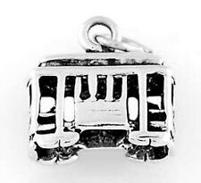 STERLING SILVER CABLE CAR CHARM/PENDANT