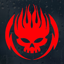 Fire Skull Flame Head Car Or Laptop Decal Vinyl Sticker For Window Bumper Panel