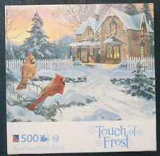 jigsaw puzzle 500 pc Touch of Frost Alan Sakhavarz Red Cardinal birds