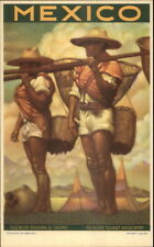 Mexico Tourism Advertising Poster Art Natives w/ Baskets Postcard myn
