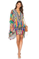 new CAMILLA FRANKS SILK SWAROVSKI WOVEN WONDERLAND LACE UP KAFTAN TOP layby avai