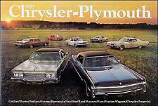1973 Chrysler Sales Catalog Newport New Yorker Imperial Town n Country Brochure