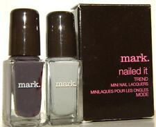 Avon Mark Nailed It Mini Nail Polish Duo Steel Plum & Industrial Grey 824 New