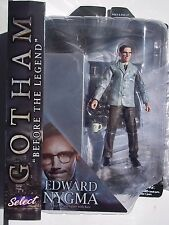 DC GOTHAM SELECT. EDWARD NYGMA DELUXE ACTION FIGURE. WITH BASE & DISPLAY. NEW.