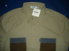 Moschino Men's 2 Pocket Shirt- Brown - Size L  BNWT