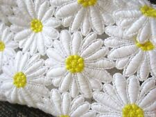 $4295 Dolce & Gabbana AUTH Embroidered Daisy Macrame Lace Dress White Yellow 46