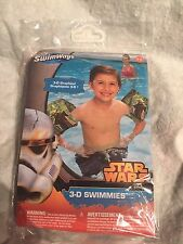 Swim Ways 3D Disney Swimmies Star Wars Ages 3-5 NEW Blow Up Arm Bands. Yoda