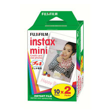 Fuji Instax Mini Film Plain White-Twin Pack (20pcs) For Mini 7 7s 8 10 20 25 50s