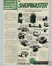 1951 PAPER AD Shopmaster Power Tools Band Saw Planer Jointer Wood Lathe