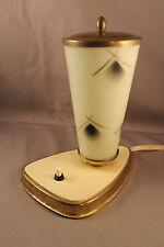 50er Jahre Tischlampe Lampe Glas Art Deco Leuchte 50s Table Lamp Mid Century n°1