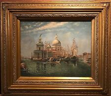 BEAUTIFUL ITALIAN OIL PAINTING - FINE VIEW OF 18TH CENTURY VENICE GRAND CANAL