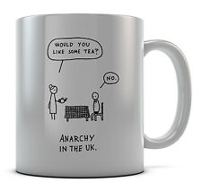 Tea Anarchy In The UK. Mug Cup Present Gift Coffee Birthday