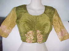 NEW Henna GREEN Pink INCREDIBLE Choli SARI BLOUSE Tunic BALLROOM BELLY Dance TOP