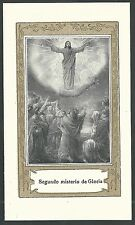 Estampa antigua la Ascencion de Jesus andachtsbild santino holy card santini