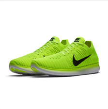 Nike Free Rn Flyknit Medal Stand SZ 9 Olympic Volt Black White 842545 700