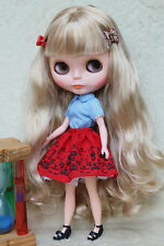 "Takara 12"" Neo Blythe Doll from Factory Nude Doll Long blond hair NK-230C"