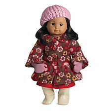 "American Girl BT BITTY TWIN FLEECE COAT & MITTENS for 15"" Baby Dolls Clothes NEW"