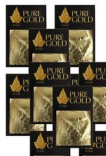 wholesale job lot  24CT Gold Leaf 100% Genuine Scrap Gold Sheets 50 sheets