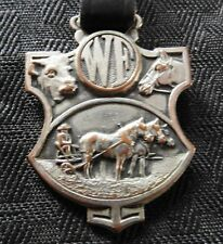 c.1890-1930 WALLACES' FARMER DES MOINES IOWA IA WATCH FOB FARMING S. D. CHILDS