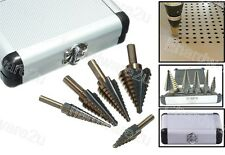5Pcs With 50 Sizes Cobalt Step Drill Bit Set With Case (SD5X138RB)