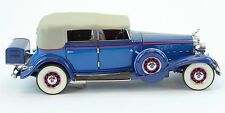 1932 Cadillac V16 Sport Phaeton Franklin Mint Die Cast 1:24 Car Blue B11SM57