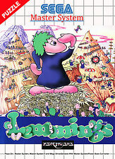 A4 Sega Master System Game Poster – Lemmings (Picture Print Gaming Art)