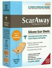 ScarAway Silicone Scar Sheets 2 month supply / 8 sheets reusable washable NEW