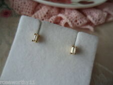 Vintage 9 ct Gold White Sapphire earrings 9ct Gold Sapphires stud ear rings