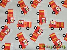 Fire Engines Cotton Jersey Knit Fabric