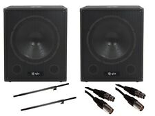 QTX qt15sa 15 Pulgadas 1200 W Active Powered Subwoofer Bass Cubo Parlante Dj Disco Paquete