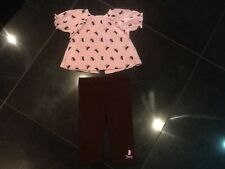 Juicy Couture New & Gen. Pink 2 Piece Cotton Set With Logo Baby Girl 6/12 MTHS