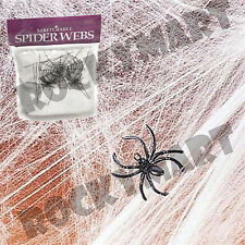 1 Bag of Stretchable Spider Web Webbing Halloween with Fake Spider RM2248