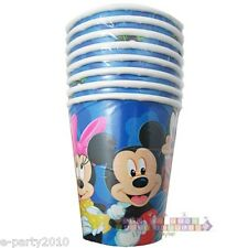 MICKEY MOUSE and FRIENDS 9oz PAPER CUPS (8) ~ Birthday Party Supplies Disney