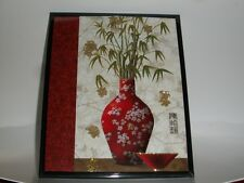 Framed photo art- Modern Chinese Vase deco 8 inches by 10 inches