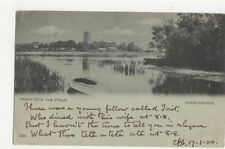 Priory From The Stour Christchurch 1901 Hampshire Postcard 260a