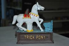 Vintage Cast Iron Trick Pony Mechanical Bank Reproduction Working