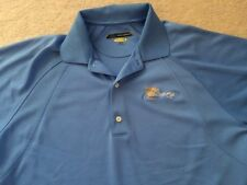 Mens size Medium Greg Norman the President's Cup Polo Golf Shirt Blue Play Dry
