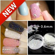 New 0.6mm AB Crystal Glass Caviar Beads Tiny 3D Micro Pixie Mermaid Nails Art