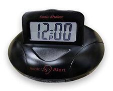 "Sonic Alert Sonic Shaker .75"" Digital Vibrating Alarm Clock (Black) SBP100B"