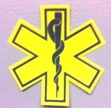 "Reflective Helmet EMT Star of Life Yellow 2"""