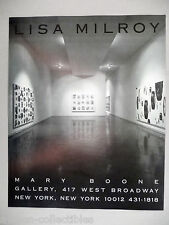 Lisa Milroy Art Gallery Exhibit PRINT AD - 1990