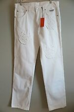 NWT History Iceberg Felix the Cat White Jeans Size 42x36  Made in Italy
