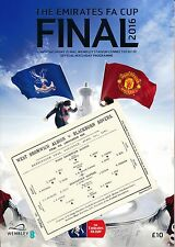FA CUP FINAL PROGRAMME 2016 with EXCLUSIVE 1886 Cup Final Replica match card!