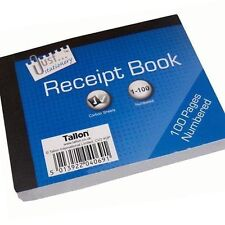Duplicate RECEIPT Book Pages Numbered 1-100 with 2 Sheets of Carbon Paper bn