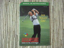 JACK NICKLAUS GOLF SNES SUPERNINTENDO MANUAL ORIGINAL USADO BUEN ESTADO
